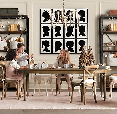 I love the silhouette art!Kids Playrooms, Restoration Hardware, Play Rooms, Silhouettes Art, Kids Spaces, Crafts Room, Kids Room, Girls Room, Plays Room