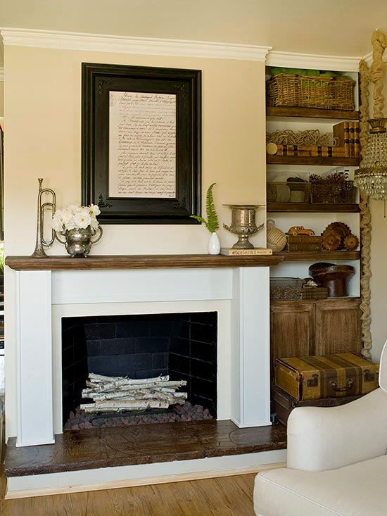 White Fireplace Ideas Warm Shelves And Mantels