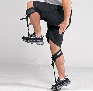 DFLEX, by Power Systems(R). These dorsiflex resistance bands develop proper running position when working on speed training and technique. Bands keep the feet in knee-up, heel-up, toe-up positions. Front shin strap pulls toe in the dorsiflex position, making them great for use in agility, quickness, and plyometric training. NOTE: These are now hard to find. I found them here: http://www.fixtureuniverse.com/performance-training/power-systems-70382-lg-dflex_g926803.html?linkloc=reCanonical