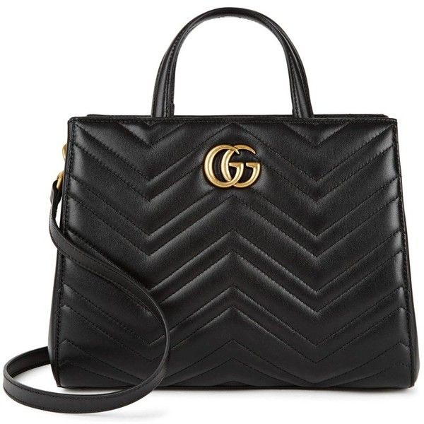 Gucci GG Marmont Small Leather Tote (10.270 DKK) ❤ liked on Polyvore featuring bags, handbags, tote bags, leather tote purse, gucci tote, tote purses, tote handbags and gucci tote bag