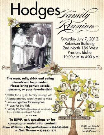 Invitation for family reunion