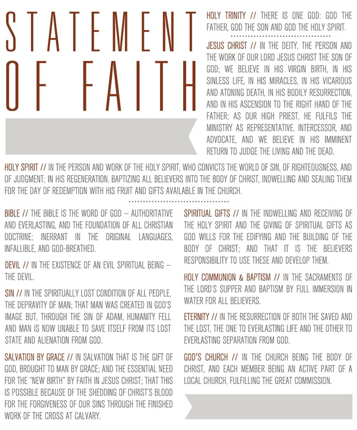 writing a learning-centered statement of faith