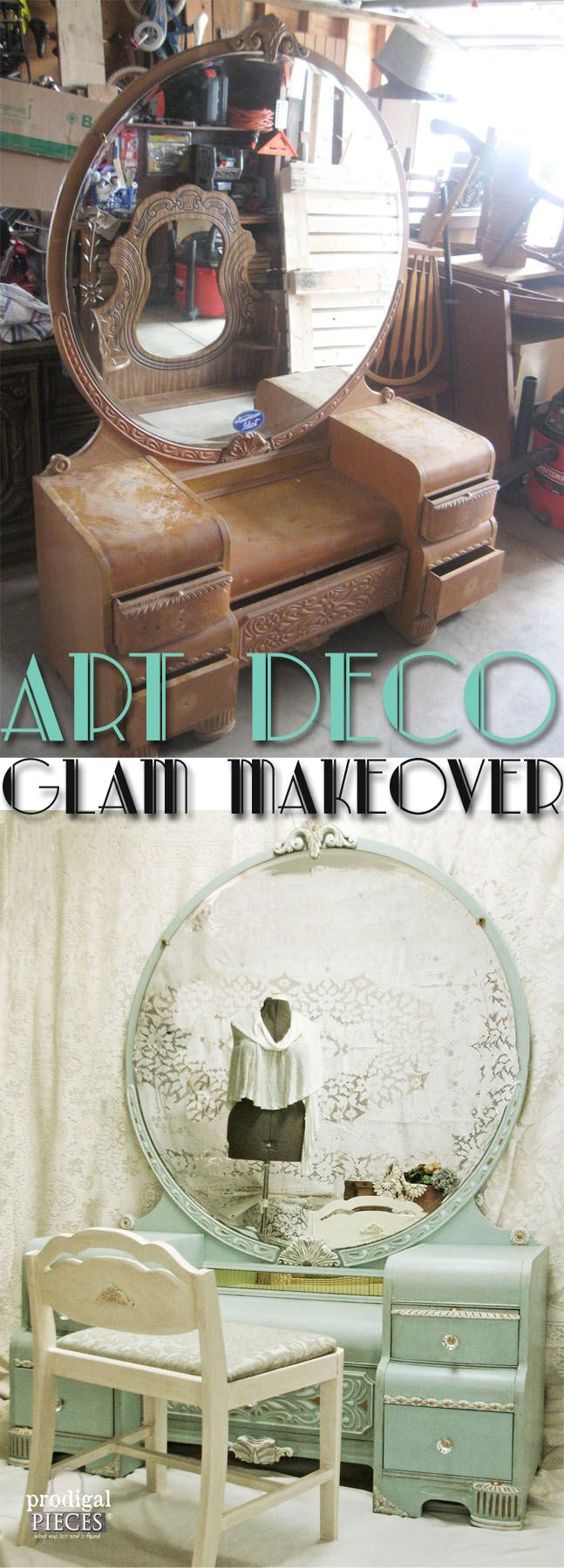 Art Deco Glam Makeover by Prodigal Pieces www.prodigalpieces.com #prodigalpieces                                                                                                                                                      More