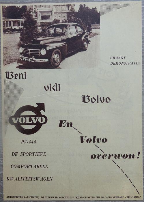 Volvo PV 444 / PV 544 - heleboel 13 advertenties van 1955 tot 1964  VolvoPV 444 - PV 544PV 444 Standaard - PV 444 Luxe - PV 444 Special - PV 444 prominente - PV 444 Sjuttio Sport - PV 544 - Duet Standaard - Duet Imperial - Duet Familjen13 x tijdschrift advertenties van 1955-19642 x 1955 / 3 x 1956 / 5 x 1957 / 1 x 1961 / 1 x 1963 / 1 x 1964Taal: 13 x NederlandsAfmetingen: 13 x a4Alle advertenties zijn opslag in plastic hoesScheepvaart in kartonnen enveloppeVoor de echte Volvo PV 444 / PV 544…