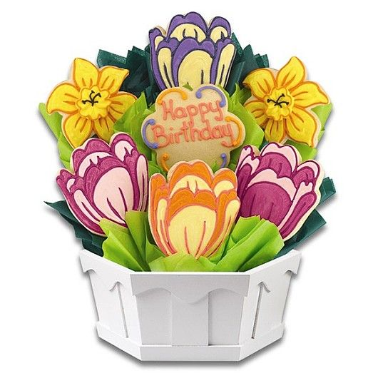 This birthday, send a bouquet of cookies that are as beautiful as real flowers but taste amazing!