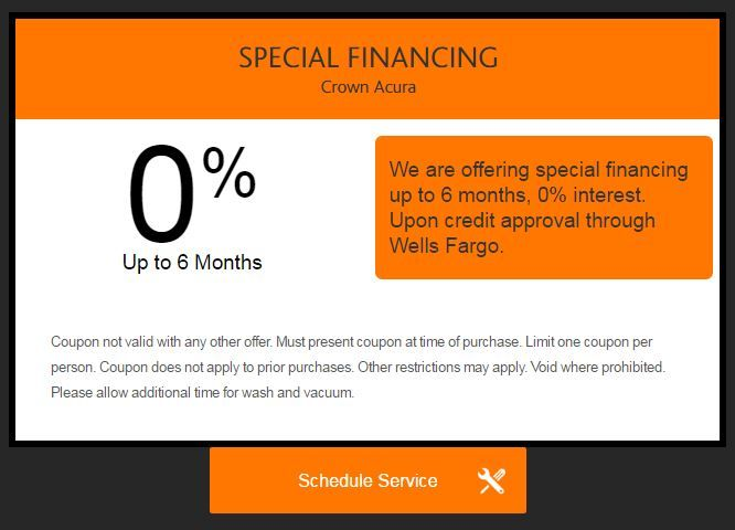 Best Crown Acura Of Greensboro Offers Specials Images On - Acura special financing