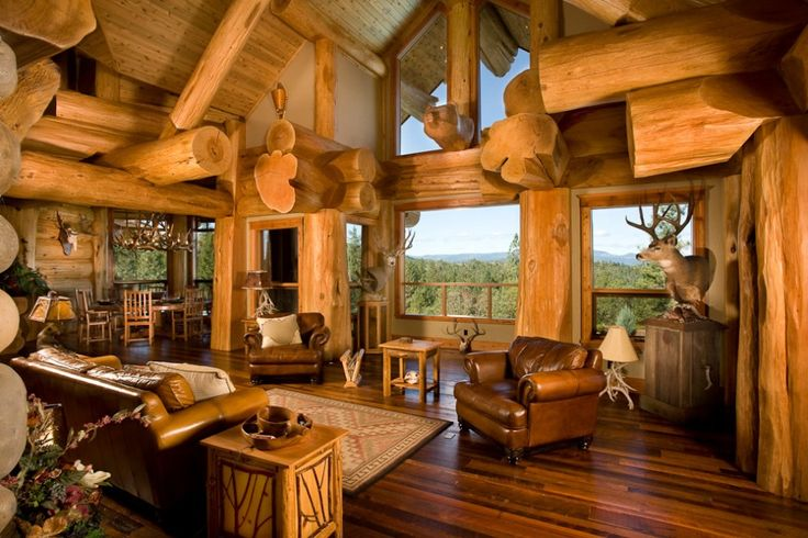 28 best images about rustic mountain lodge design on for Decorate log cabin interior