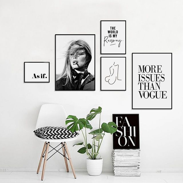 Image Result For Vogue Wall Art Picture Wall Bedroom Fashion Wall Art Wall Art Quotes