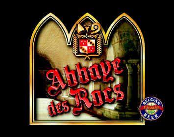 Abbaye des Rocs (alc. 9% vol.) is een puur moutbier, waaraan geen suiker wordt toegevoegd. Alle smaakschakeringen houden rechtstreeks verband met de dubbele gisting, met de nauwkeurige dosering van de (7 verschillende) moutsoorten en met het mengsel van drie types hop (Belgische, Duitse en Tsjechische).  Zo ontstaat een bier met een pauselijke smaak, robijnrood en groots. Een bier met een rijke smaak en vol finesse. Een bier dat gedegusteerd wordt als rode wijn waarmee het zijn kleur gemeen…