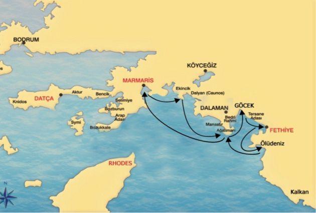 Map of MARMARIS – FETHIYE – MARMARIS