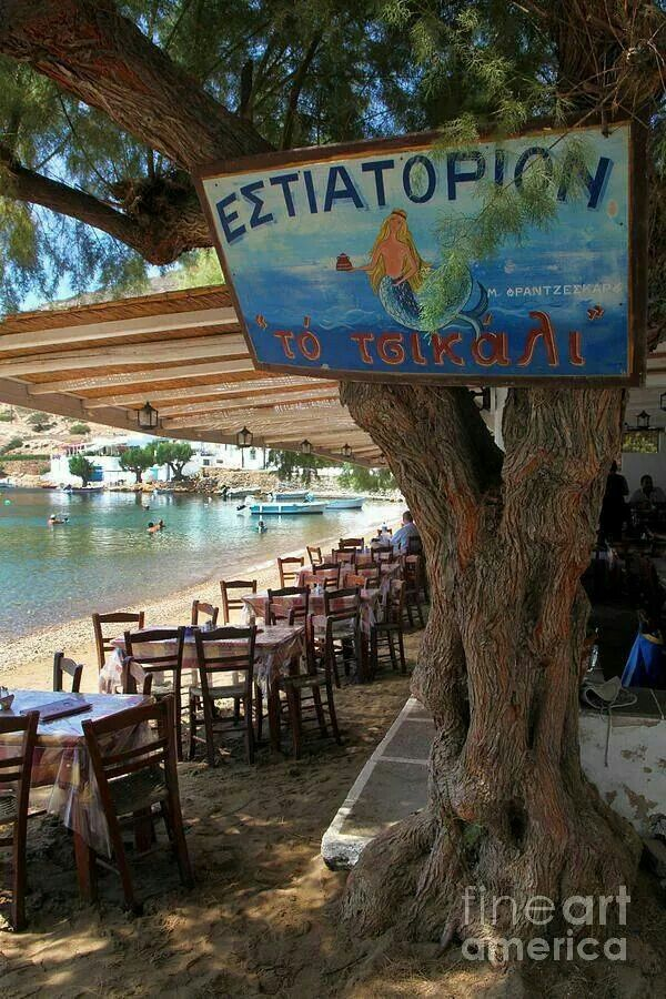 Taverna with feet in the water, Sifnos island!