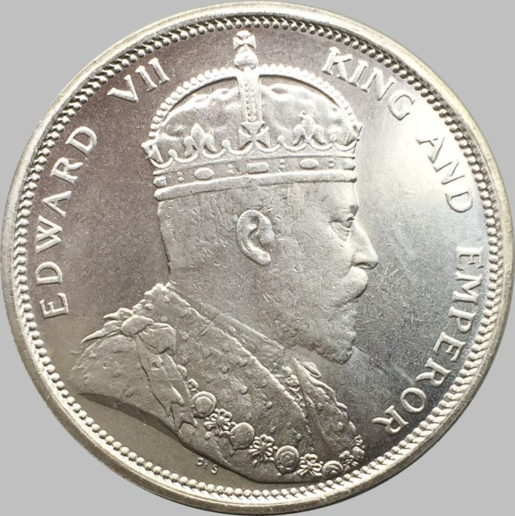 Malaysia  Sarawak Straits Settlements 1909 Edward Vii And Empreror  Yi Yuan Brass Silver Plated Copy Coin