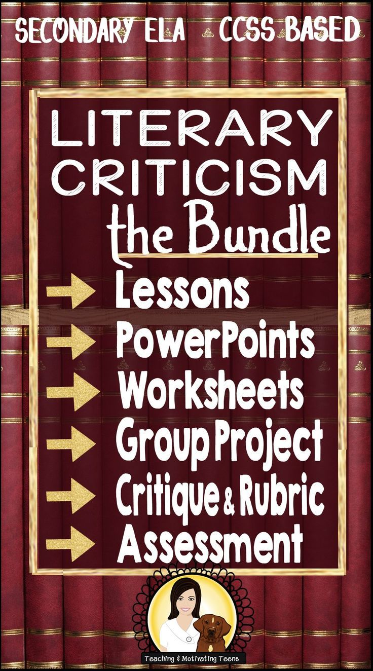 "1) an editable introduction to literary criticism explaining the purpose and process of criticism - critiques (written broadly enough to relate to criticism of any art form), 2) a ""generic"" and editable student worksheet guiding them through a critical review of ANY work of fiction 3) Group Critique Project 4) Crossword Puzzle 5) Introductory PowerPoint on Aristotle 6) Culminating Assignment: Writing a Literary Critique with Rubric 7) Summative Assessment"