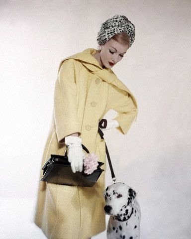 March 1959 - yellow wool coat