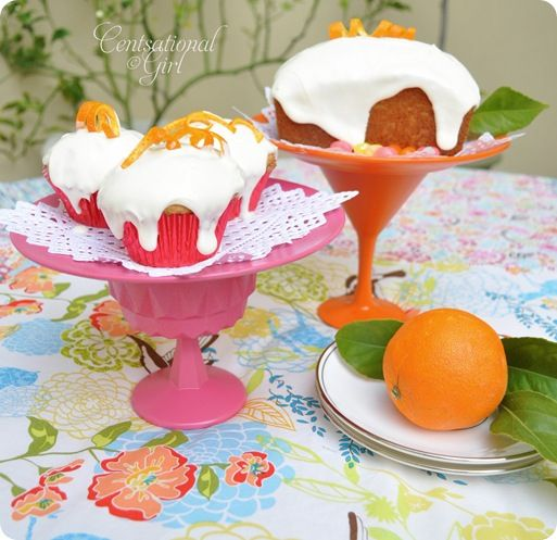 Make these adorable cake stands out of good will plates and glasses!