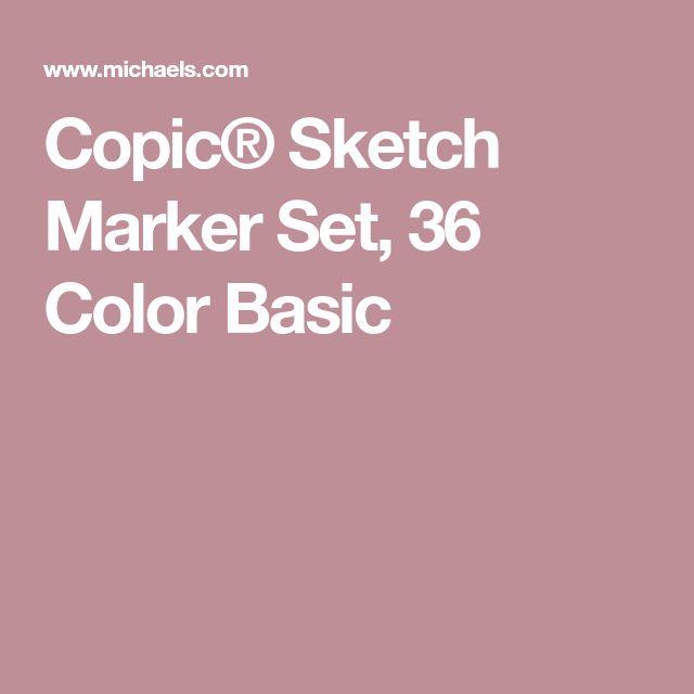 Copic® Sketch Marker Set, 36 Color Basic