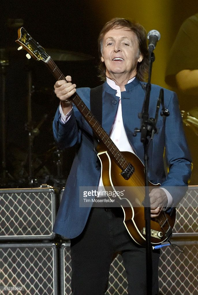 Paul McCartney performs at the opening night of the Golden 1 Center on October 4, 2016 in Sacramento, California.