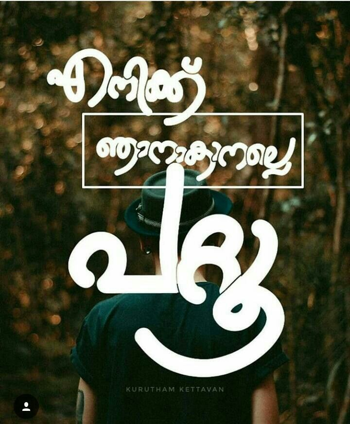 ഞ ൻ മ ത ര Malayalam Typography Pinterest Quotes