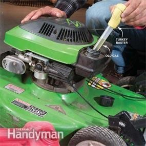 Mower Tune-Up: Tune up your lawn mower in 5 simple steps.  http://www.familyhandyman.com/automotive/lawn-mower-repair/mower-tune-up/view-all