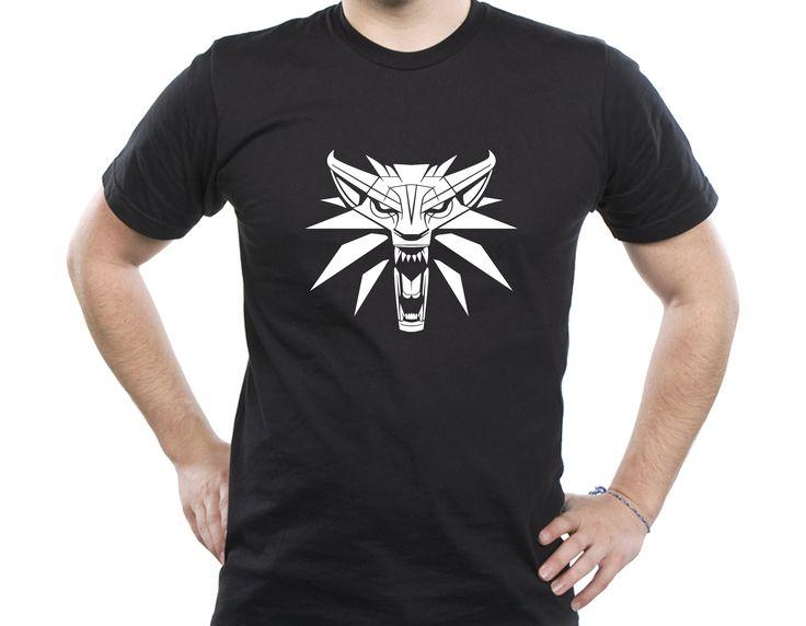 The Witcher 3 III Wild Hunt gamer t-shirt medallion wizard wolf weapon game logo