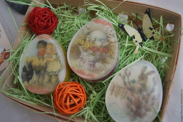 Купить Пасхальный набор , мыло, пасхальные яйца, подарок на Пасху, к Пасхе - комбинированный, мыло яйцо