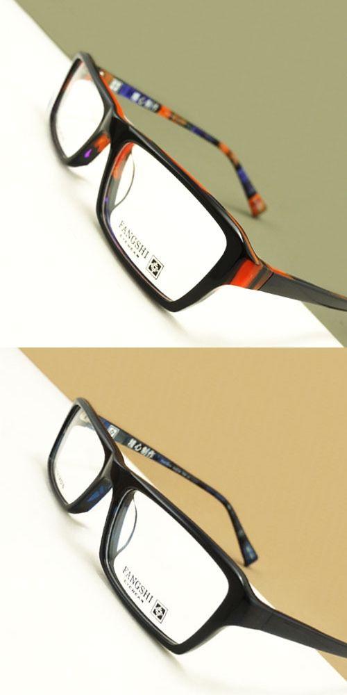 b1b99f83b22 Black Blue Rectangular Acetate Full rim Optical Prescription EYEGLASSES  FRAMES Unisex Glasses RX Spectacle FH07054 Eyewear
