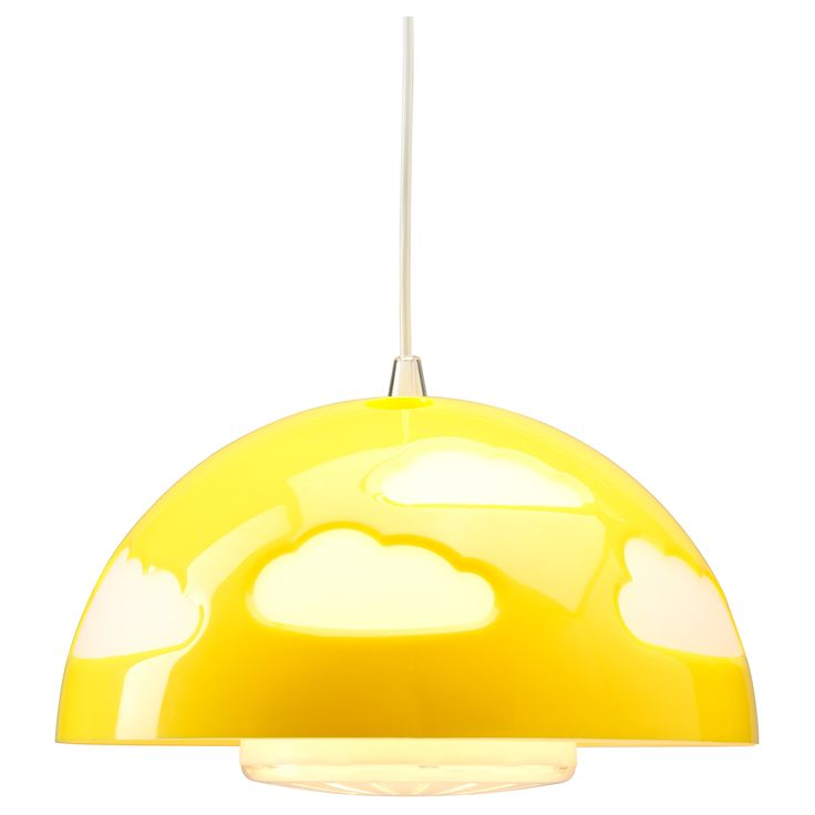 SKOJIG Pendant lamp - yellow - IKEA $25