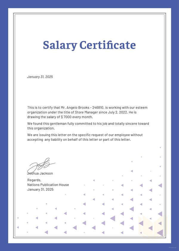 salary-certificate-template My Saves Certificate templates