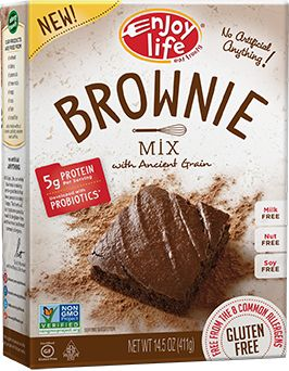LOVE this #allergyfree brownie mix. Just add oil and water. They are gooey and chocolatey, just like a traditional brownie. So delicious!