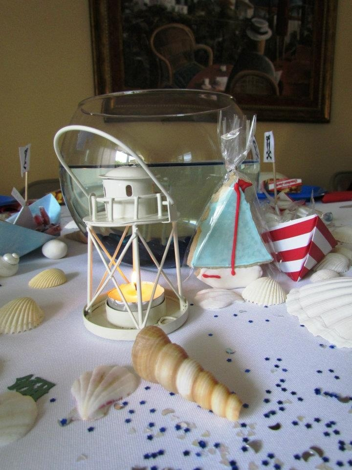 23 best images about nautical party theme on pinterest for Anchor decoration party