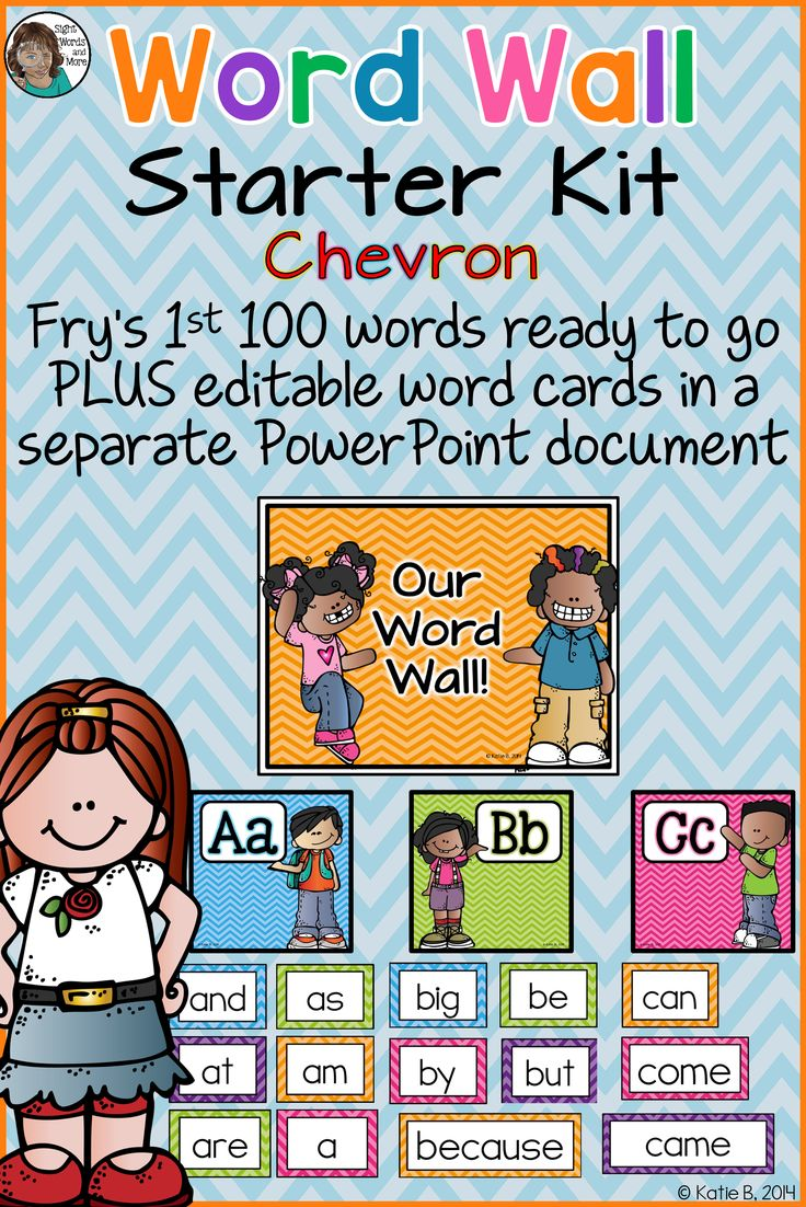 Word Wall starter kit in a colorful chevron theme with editable word wall cards to build a bright, chevron Word Wall for your classroom. Includes letter headers from Aa ? Zz along with 3 different sized, blank word cards in 6 different colored chevron borders, 6 A4 word wall title options, editable word wall cards and the first 100 Fry sight words (also editable). Especially useful for your learners as they?re working independently or in small groups.