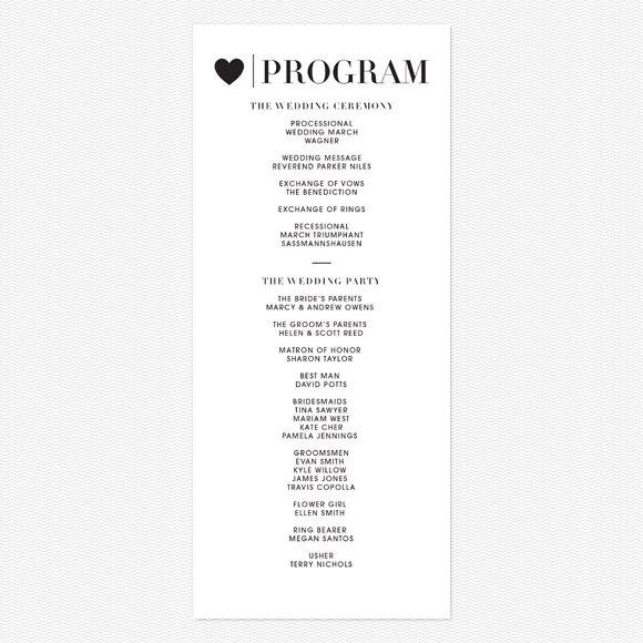 27 Best Wedding Program Styles Images On Pinterest