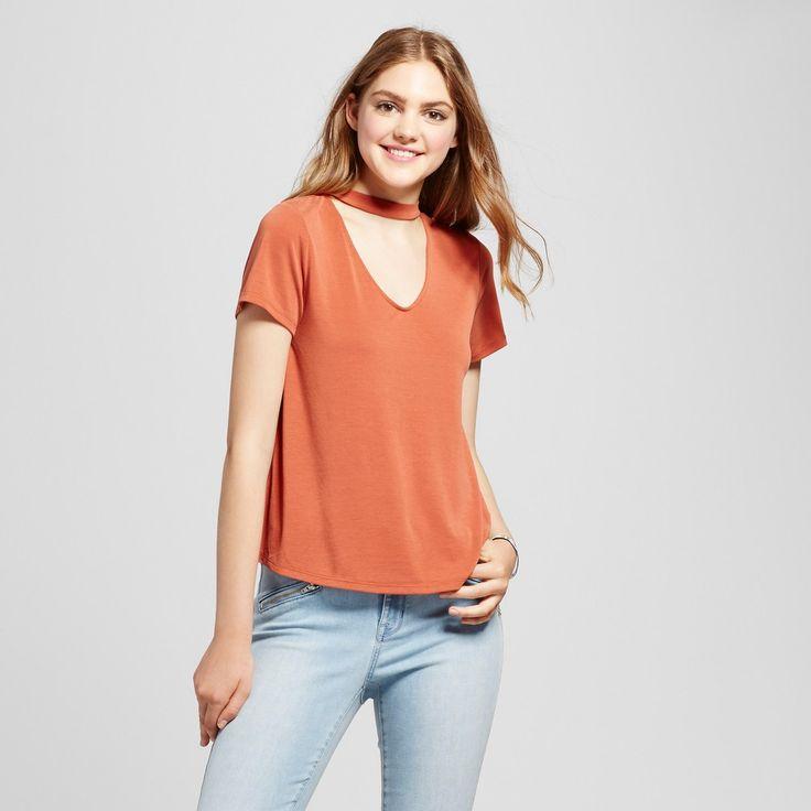 Women's Choker Tee Orange Xxl - Mossimo Supply Co.