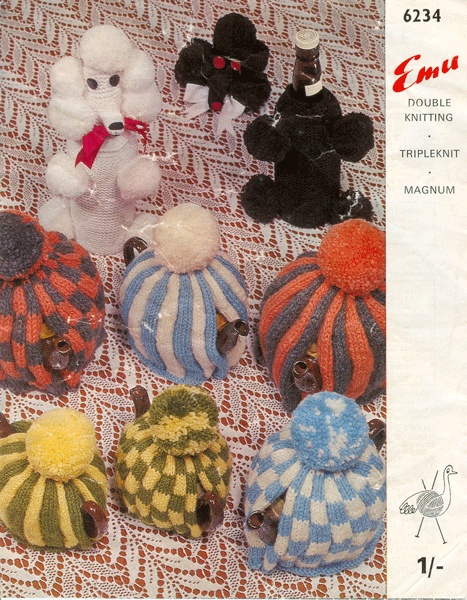 vintage knitting pattern tea cosy