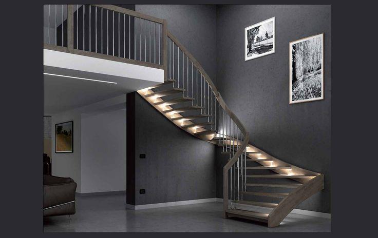 Ringhiere moderne per scale interne zx66 regardsdefemmes - Illuminazione scale interne led ...