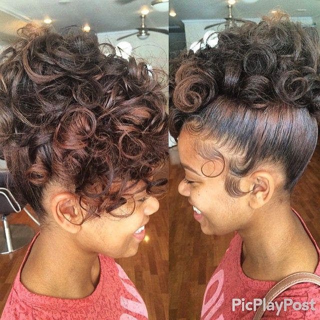 STYLIST FEATURE| Love this curly #updo done by #PhillyStylist Jenn at @Salonjmoirai❤️ Perfect for prom or a wedding#VoiceOfHair ========================= Go To: www.VoiceOfHair.com ========================= Free eBook on Hairstyles for All Women