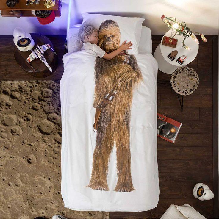 STAR WARS Chewbacca dekbedovertrek - SNURK https://www.livingdesign.be/nl/merken/snurk-beddengoed/kids