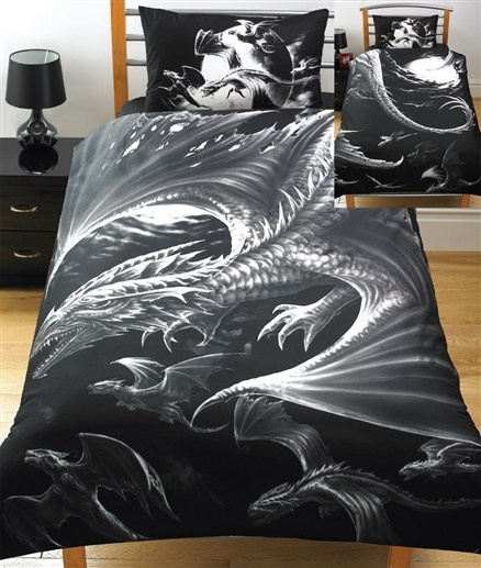 Skyrim Style Bedroom: Dragon Bedding. From Studio24.co.uk