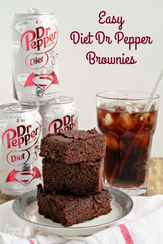 You only need 3 simple ingredients to whip up these fudgy & practically guilt-free Easy Diet Dr Pepper® Brownies.