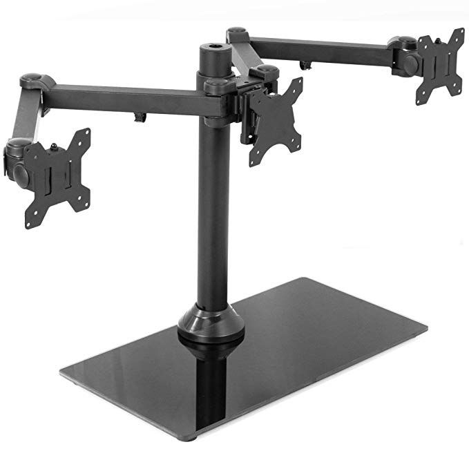"""VIVO Triple Monitor Desk Mount Stand Heavy Duty Adjustable 3 Screens up to 32/"""""""