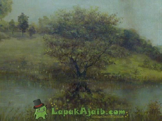 Lukisan Karya Hwoeck `The Oaks By The River` 1974