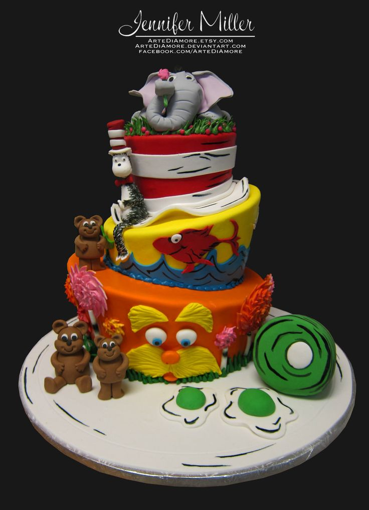 21 best images about Cake Design for Dr. Seuss Cake on ...