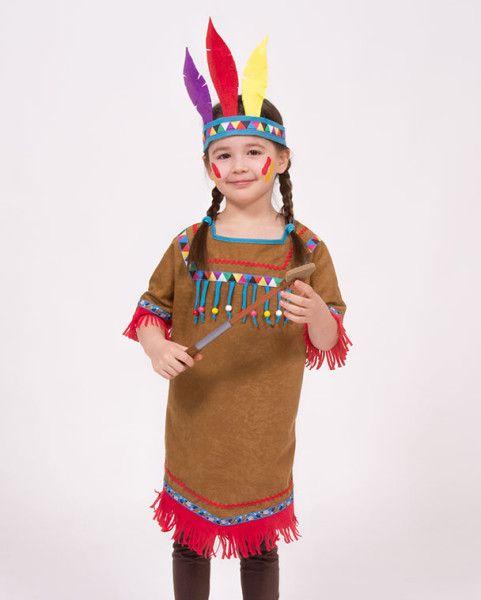 Ein Indianerkostüm selber nähen - ein einfaches Kleid mit Webbändern, Zackenlitze und Holzperlen verzieren