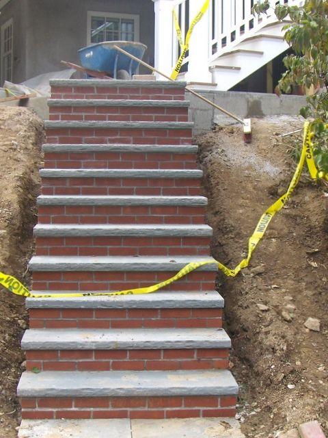 Best Bluestone Steps With Brick Risers Masonry In 2019 640 x 480