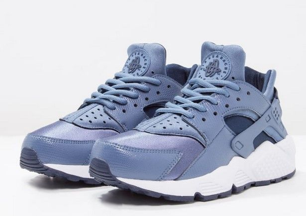 Nike Sportswear AIR HUARACHE RUN Baskets basses ocean fog/midnight navy/white