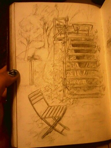 Old staircase and chair by keylee181