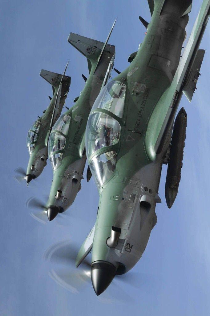 "eyestothe-skies: "" A-29 Super Tucano, Brazilian Air Force """