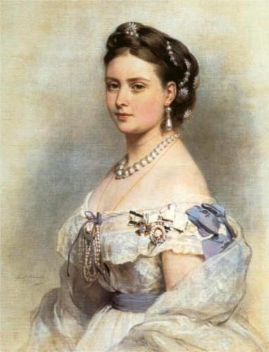 The Princess Victoria, Princess Royal as Crown Princess of Prussia in 1867 - Franz Xaver Winterhalter