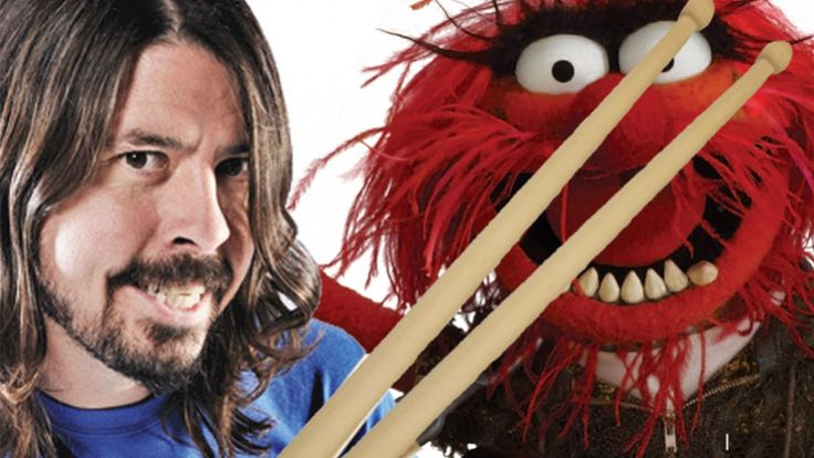 DRUM OFF - Foo Fighters' Dave Grohl vs The Muppets' Animal. One of the cutest things I have ever watched on tv!