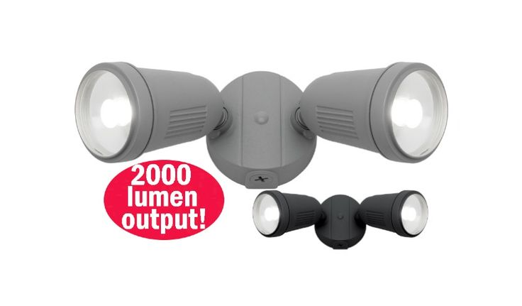 Otto+24w+LED+Twin+Floodlight+Outdoor+Black,+Silver+or+White+Mercator+MXD6712, $89.00